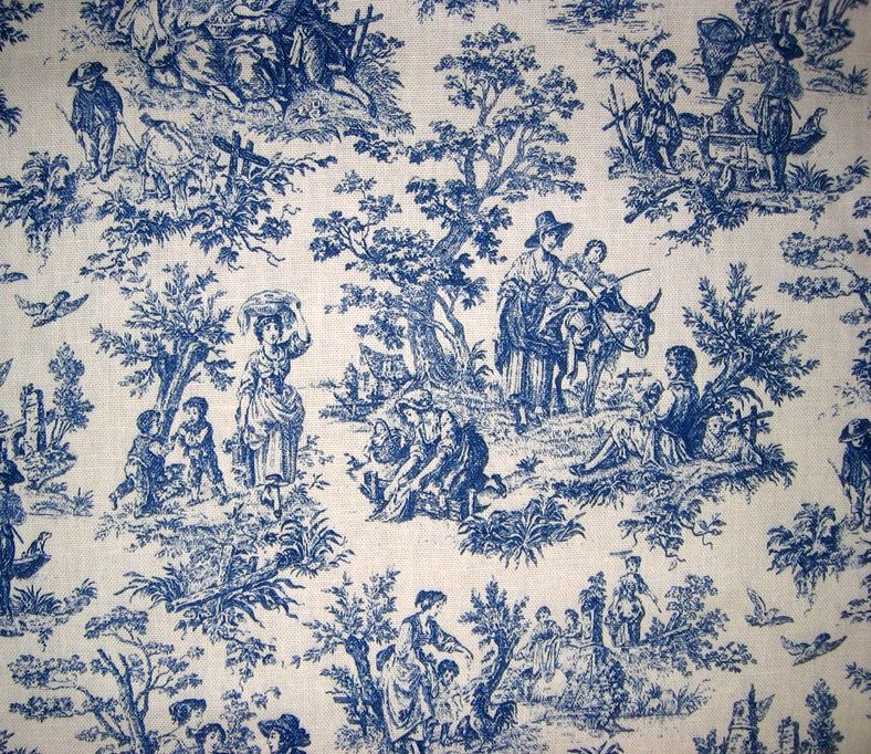 love blue toile