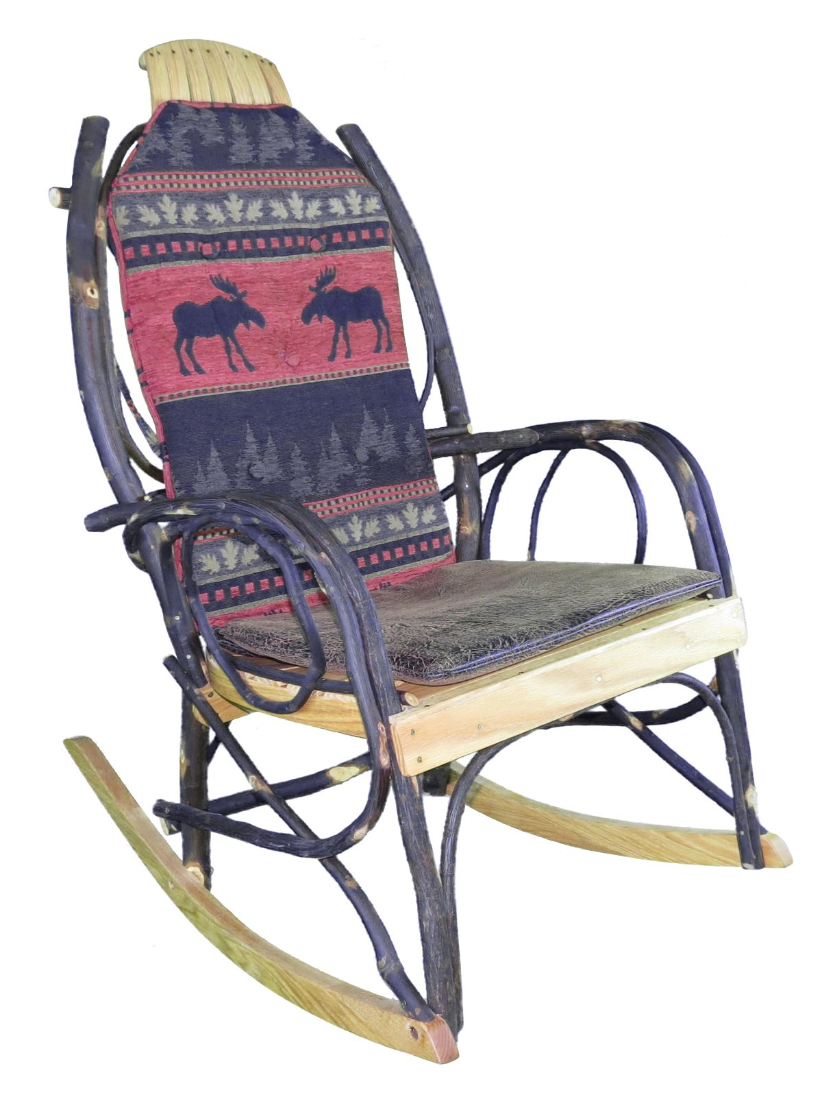 Amish Bentwood Rocker Cushion Set Red Moose Fabric In 2019
