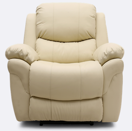 Richmond Electric Recliner Leather Chair in Cream | Leather