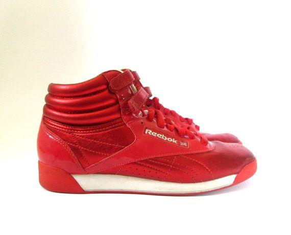 RARE 80s Metallic Red Reebok Classics