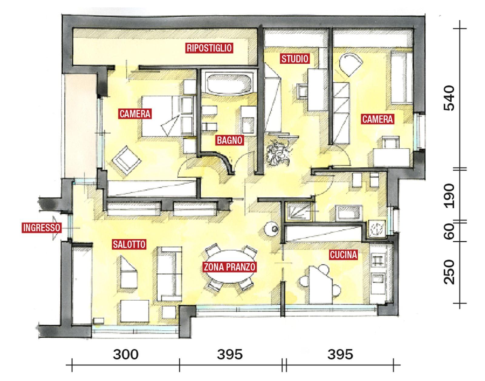 Progetti Di Case Su Un Piano Progetto Villetta 100 Mq Progetto Casa 130 Mq Planimetria Casa Americana Nel 2020 Planimetrie Di Case Progetto Casa Planimetrie