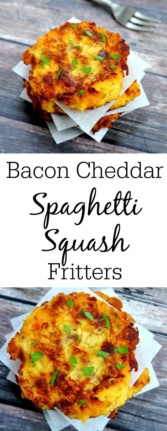 Bacon Spaghetti Squash Fritters - My Suburban Kitchen