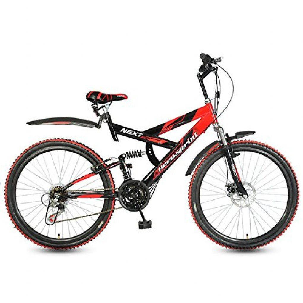 fc1b53aa4ac Hero Cycles with Gear and Disc Brake Price | Hero Next 26T 18 Speed Mountain  Bike (Black/Red)