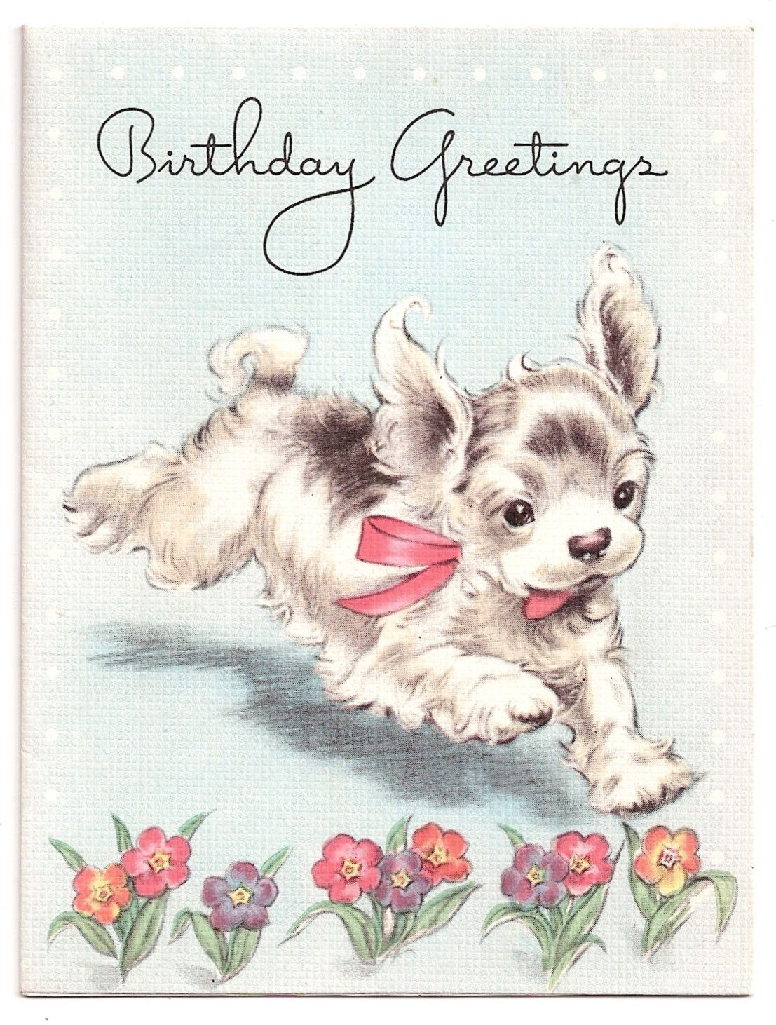 Vintage dog collectibles i antique online vintage images is a sweet pair of early childrens birthday greeting cards with juvenile images kristyandbryce Choice Image