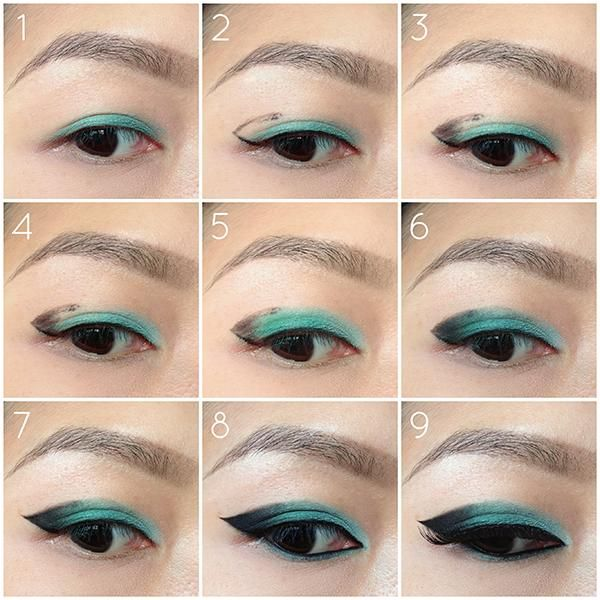 How to make ombre eyes cat