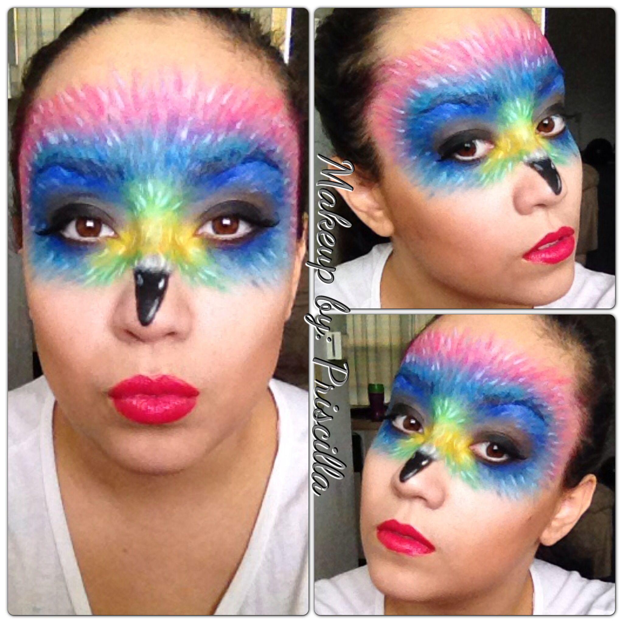 Birds of paradise masquerade mask makeup for halloween. Tutorial ...