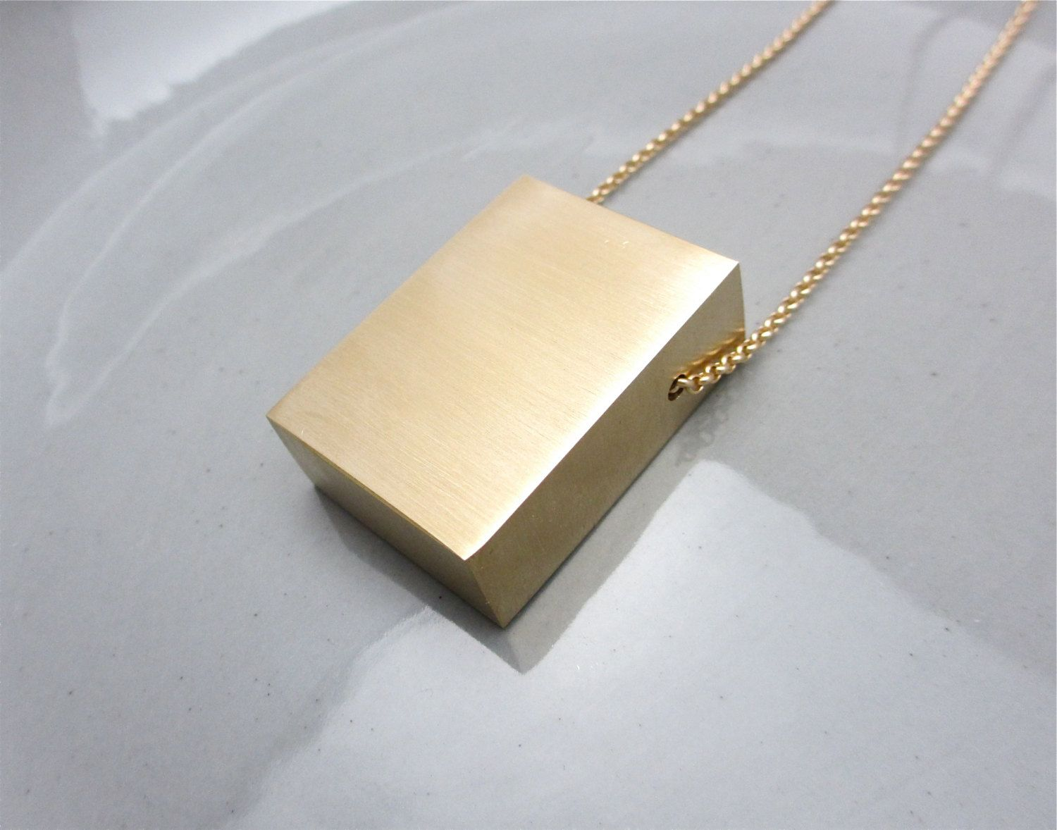 Statement Necklace Minimalist Jewelry Material Purity Series
