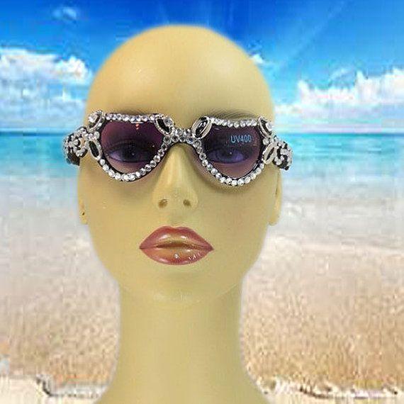 Black Sunglasses - Eyewear Glasses - Headbands - Heart  Glasses - Fashion Eyewear - Gift For Bride - Flower Girl Gifts - Wedding Accessories on Etsy, $29.00
