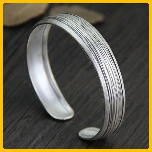 Handmade Sterling Silver Bangle,Handmade Sterling Silver Bracelet,Handmade Sterling Silver Cuff - Wedding bracelets (*Amazon Partner-Link)
