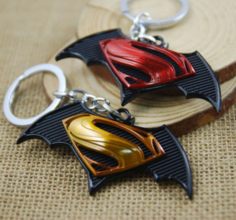 DC Comics Movie Superman Symbol Clark Kent Alloy Steel Metal Keychain Key Chain