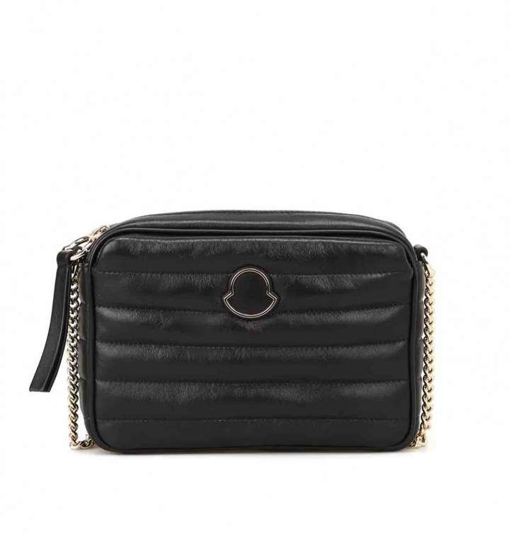 Moncler Leather crossbody bag | Products | Black leather