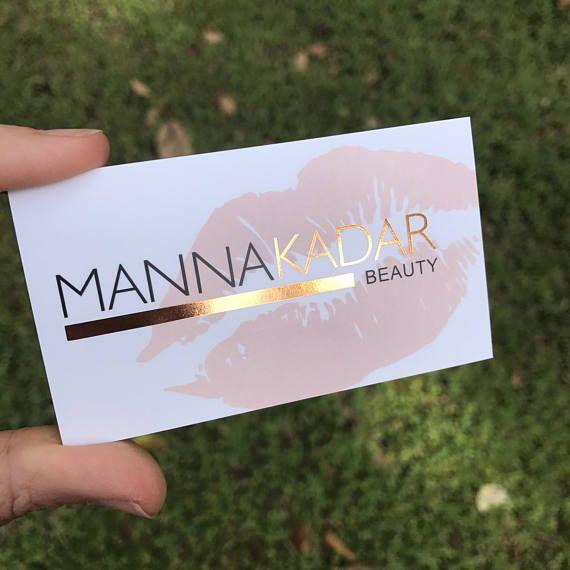 Rose Gold Foil Business Cards Perfect For Makeup Artist Etsy Cartao De Visita Maquiadora Cartoes De Visita Maquiagem Cartao De Visita Dourado