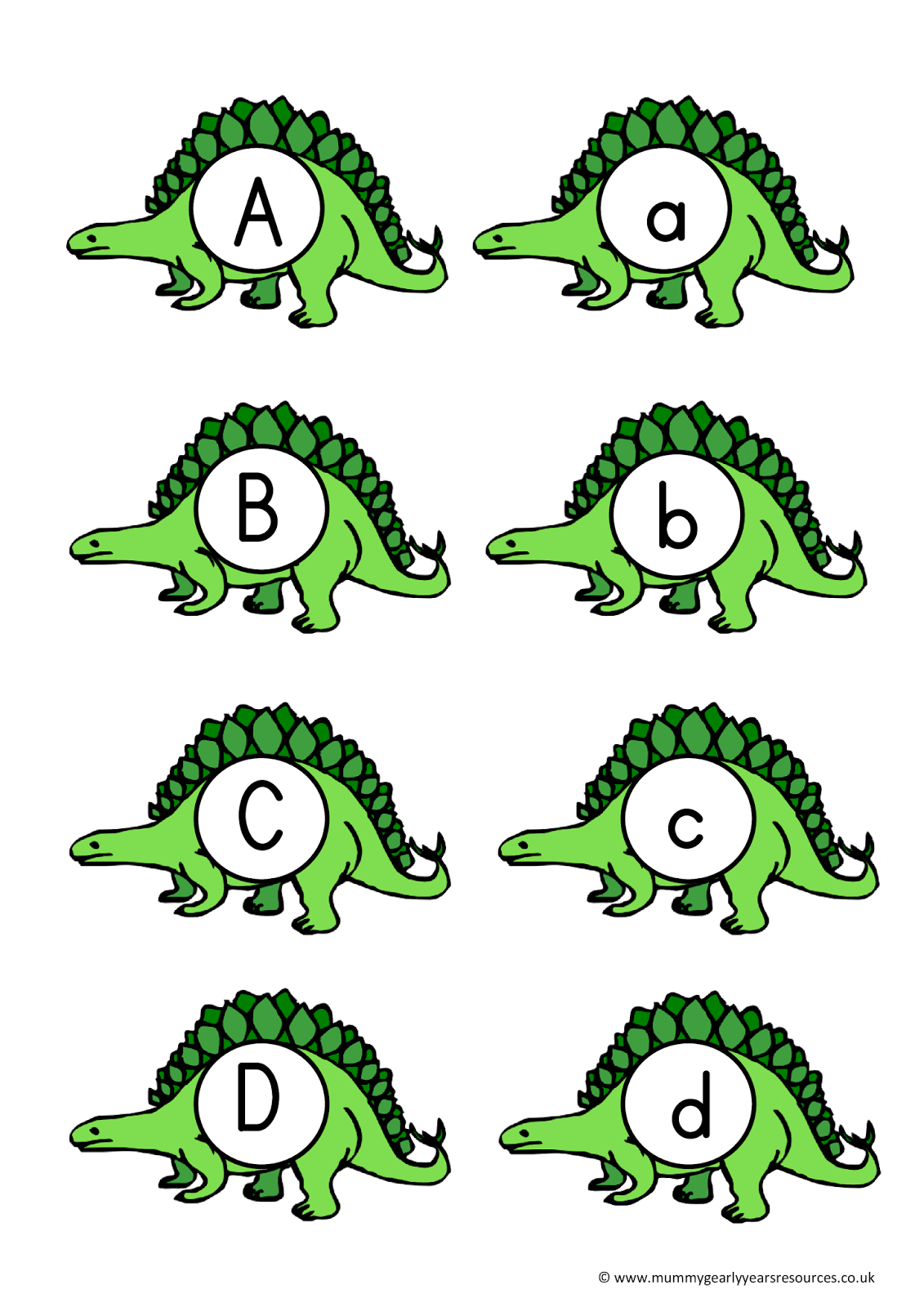 Mummy G early years resources: Dinosaur letters and numbers | KBN ...