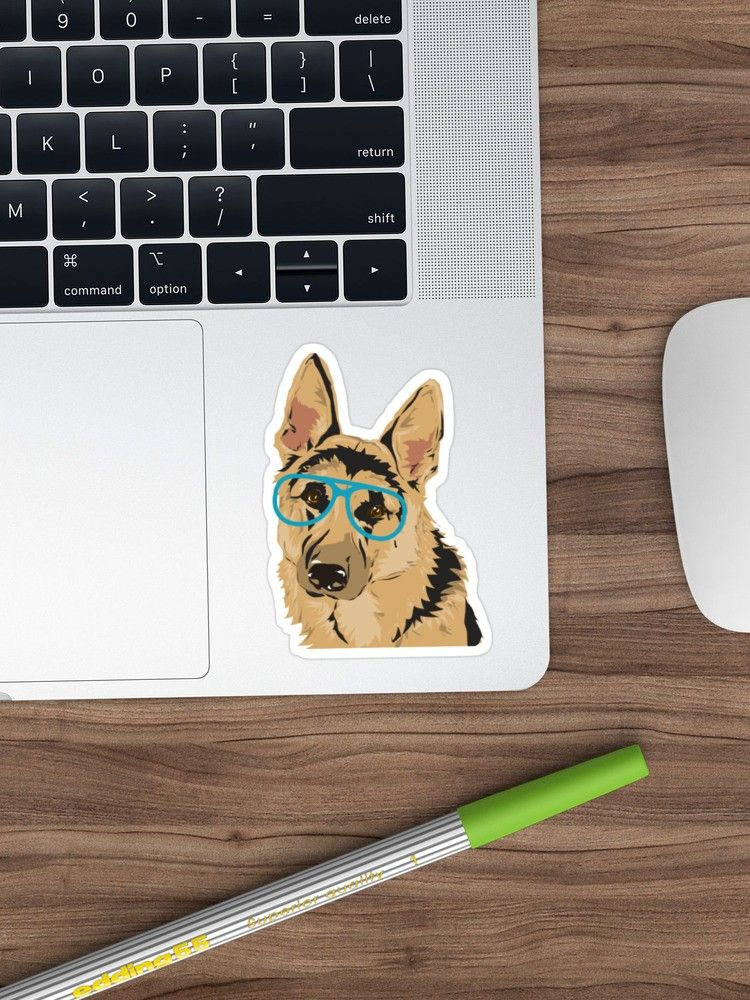 'Joseph the German Shepard' Sticker by KristyHowland #germanshepards