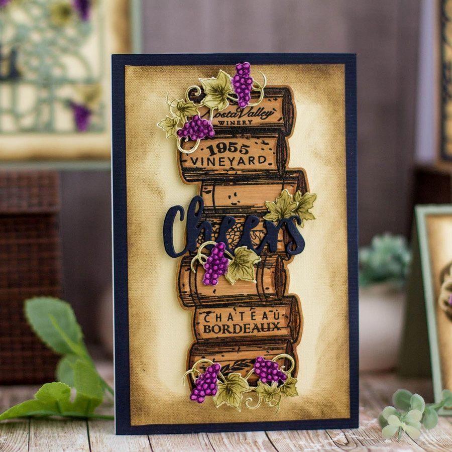 Spellbinders Wine Corks Stamp /& Die Set