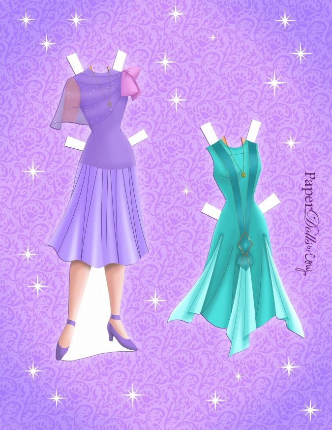 Бумажная кукла принцесса Анастасия с нарядами | Бумажные ...
