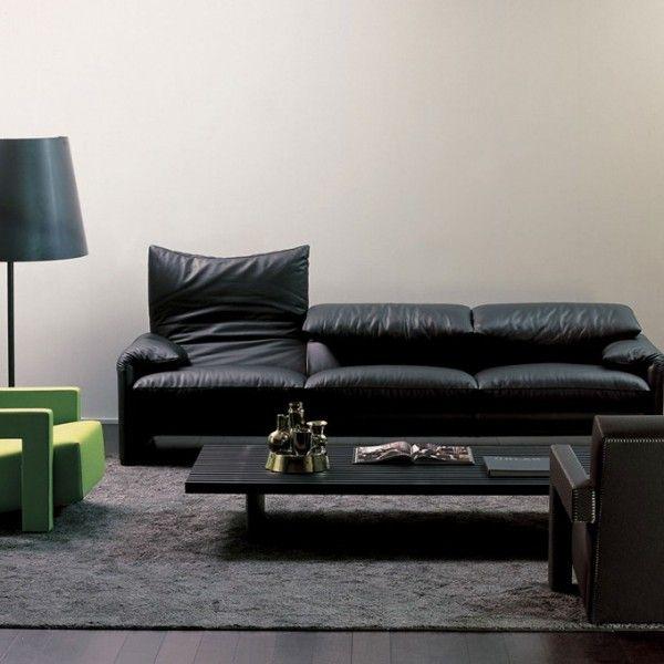 leder sofa vico magistretti wei maralunga cassina in 2019 three seater sofa sofa