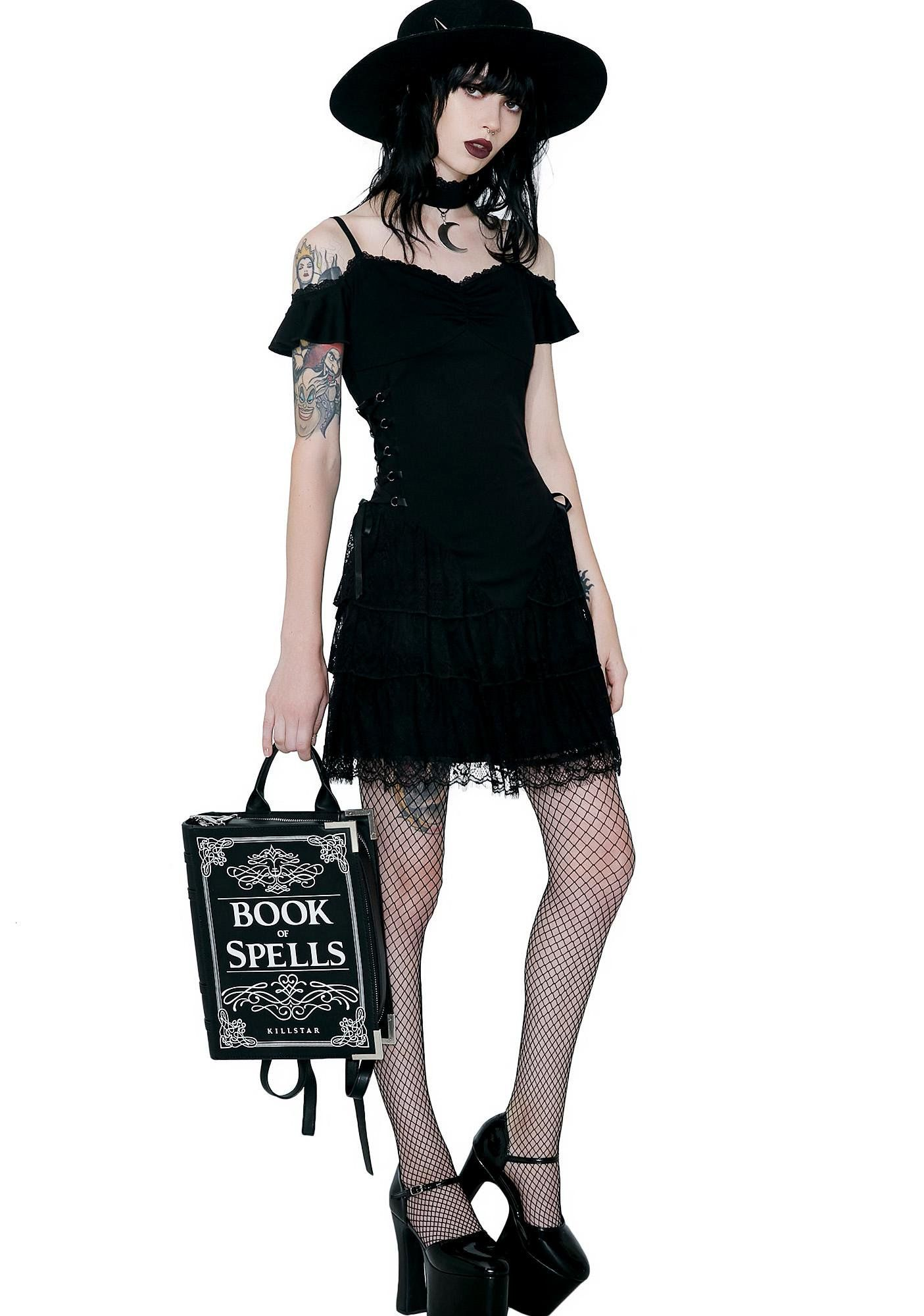 11a954976fb Killstar Black Magic Corset Dress