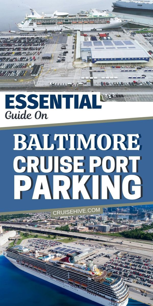 Travel and transportation tips for Baltimore cruise parking at the port in Maryland. #cruise #cruises #baltimore #maryland #cruiseship #traveltips