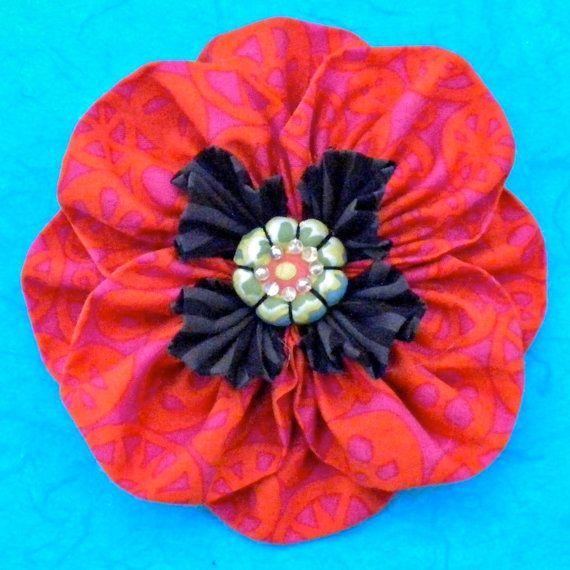 Fabric Flower Tutorial Pattern by Latodera on Etsy