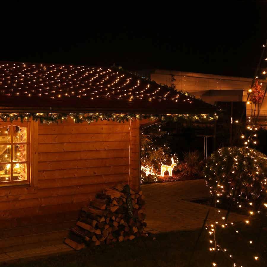 Fahnenmast Beleuchtung Weihnachten | Dekorationsvorschlag Fur Led Lichternetz 2x2 M Mit 160