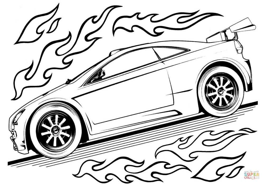 Hot Wheels Car Coloring Page Free Printable Coloring Pages Race Car Coloring Pages Cars Coloring Pages Truck Coloring Pages