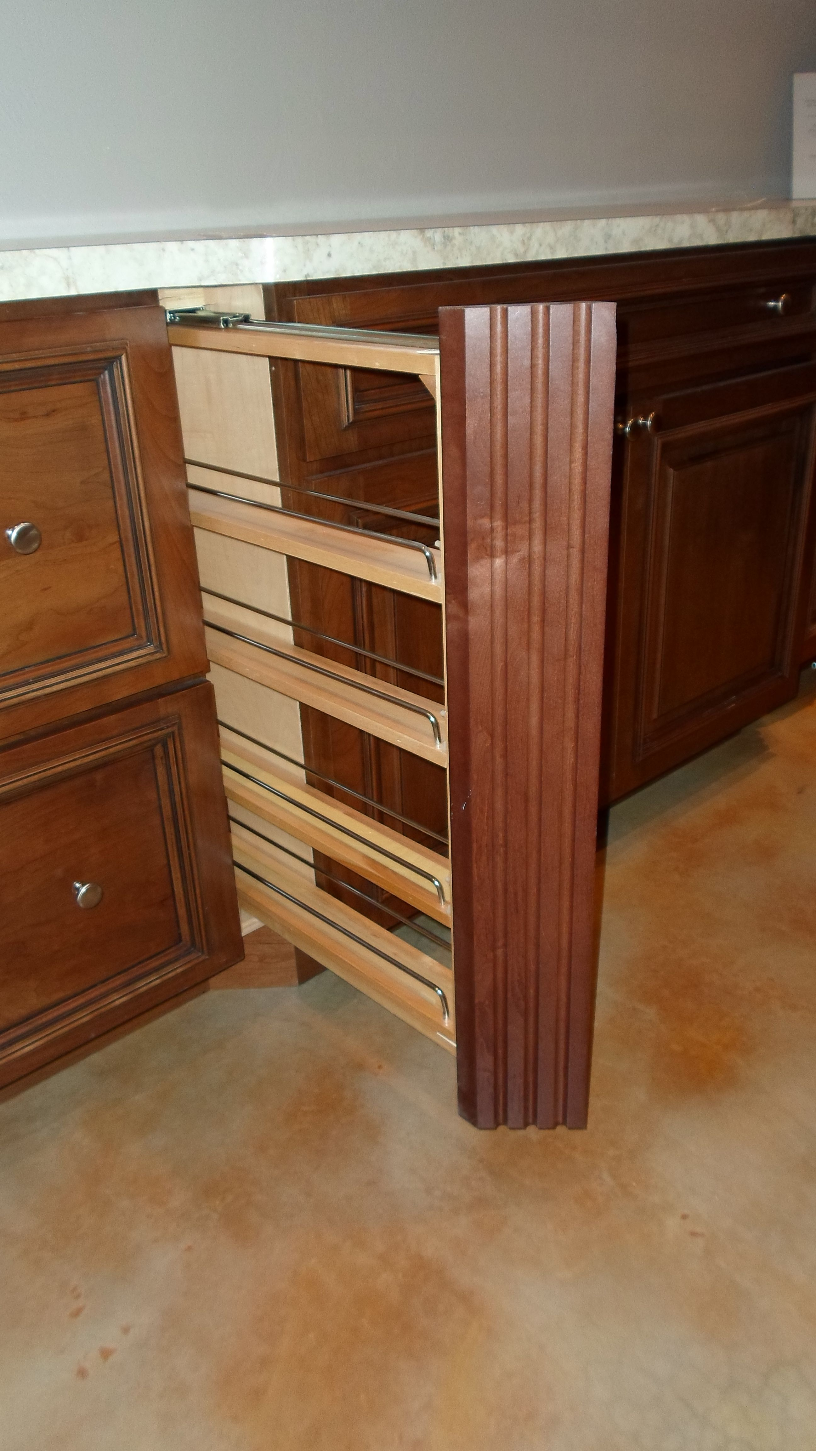 Karman Brand Cherry Cabinets Albany Door Style With 5 Piece Drawer Front And Spice Stain With Black Glaze Cherry Cabinets Cabinet Kitchen
