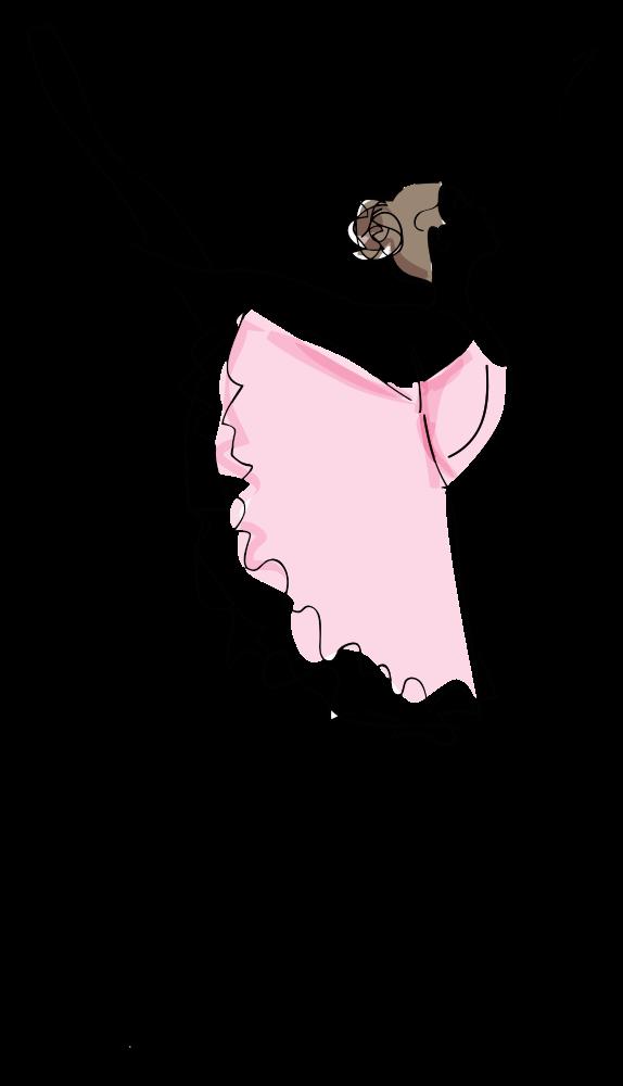 Картинка балерины рисовать