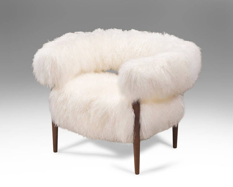 Nanna Ditzel: A Pair Of Rare Fur Upholstered And Wenge Ring Chairs | From A  Unique Collection Of Antique And Modern Armchairs At ...