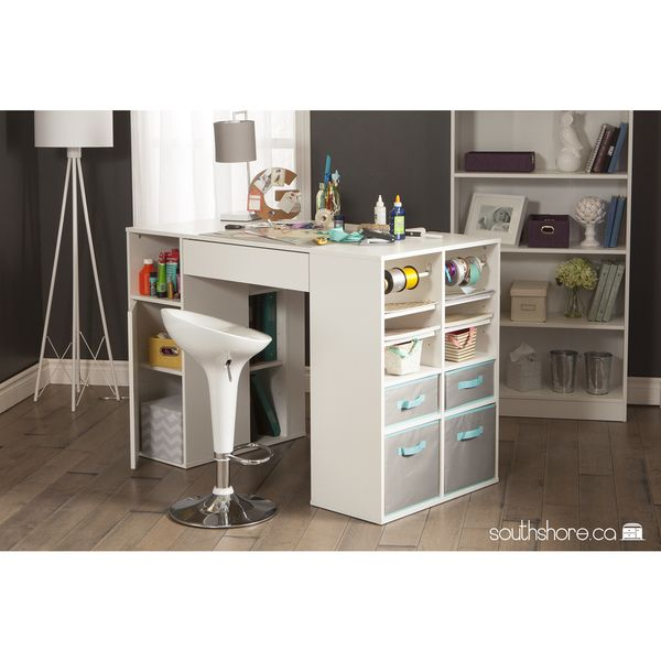 South Shore Crea Collection Craft Table White #35 - South Shore South Shore Crea Counter-Height Craft Table With Storage, Pure  White Whatever Youu0027re Into - Be It Crafts, Sewing, Or Jewelry Making -  Every ...