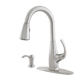 Lowes 159 00 Pfister Selia Stainless Steel 1 Handle Pull Down