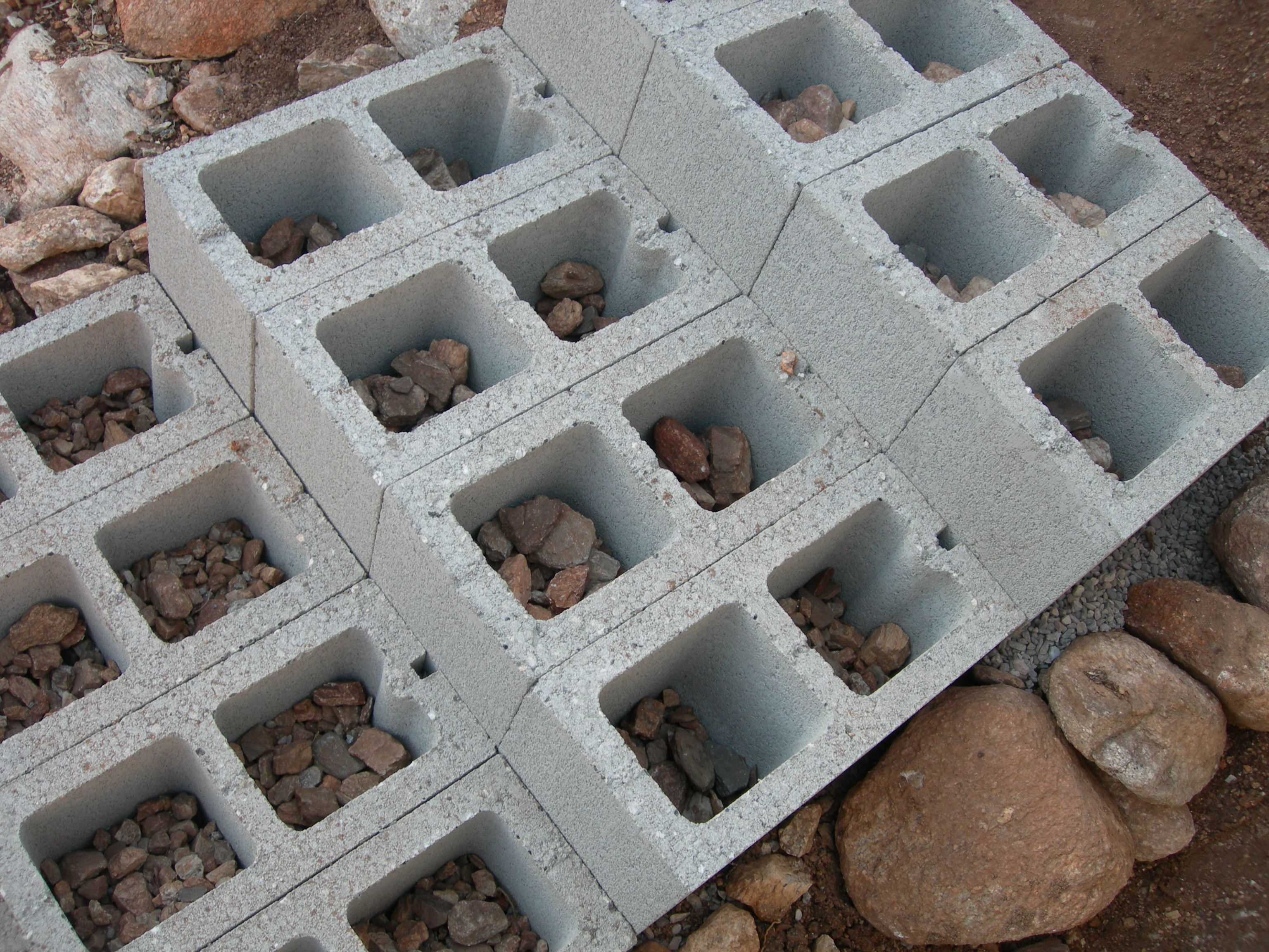 Dirt, rocks, stairs. Spring ProjectsEasy Diy ProjectsProject IdeasCinder  BlocksCinder ...