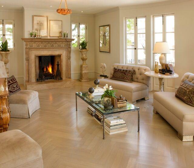 Natural Blonde Herringbone Wood Flooring