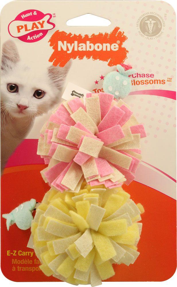 Nylabone Roll 'N' Chase Toss 'Em Blossoms Cat Toys