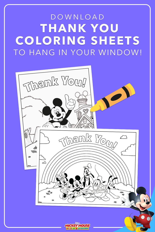 Thank You Coloring Sheets Disney Junior Coloring Sheets Color [ 1500 x 1000 Pixel ]