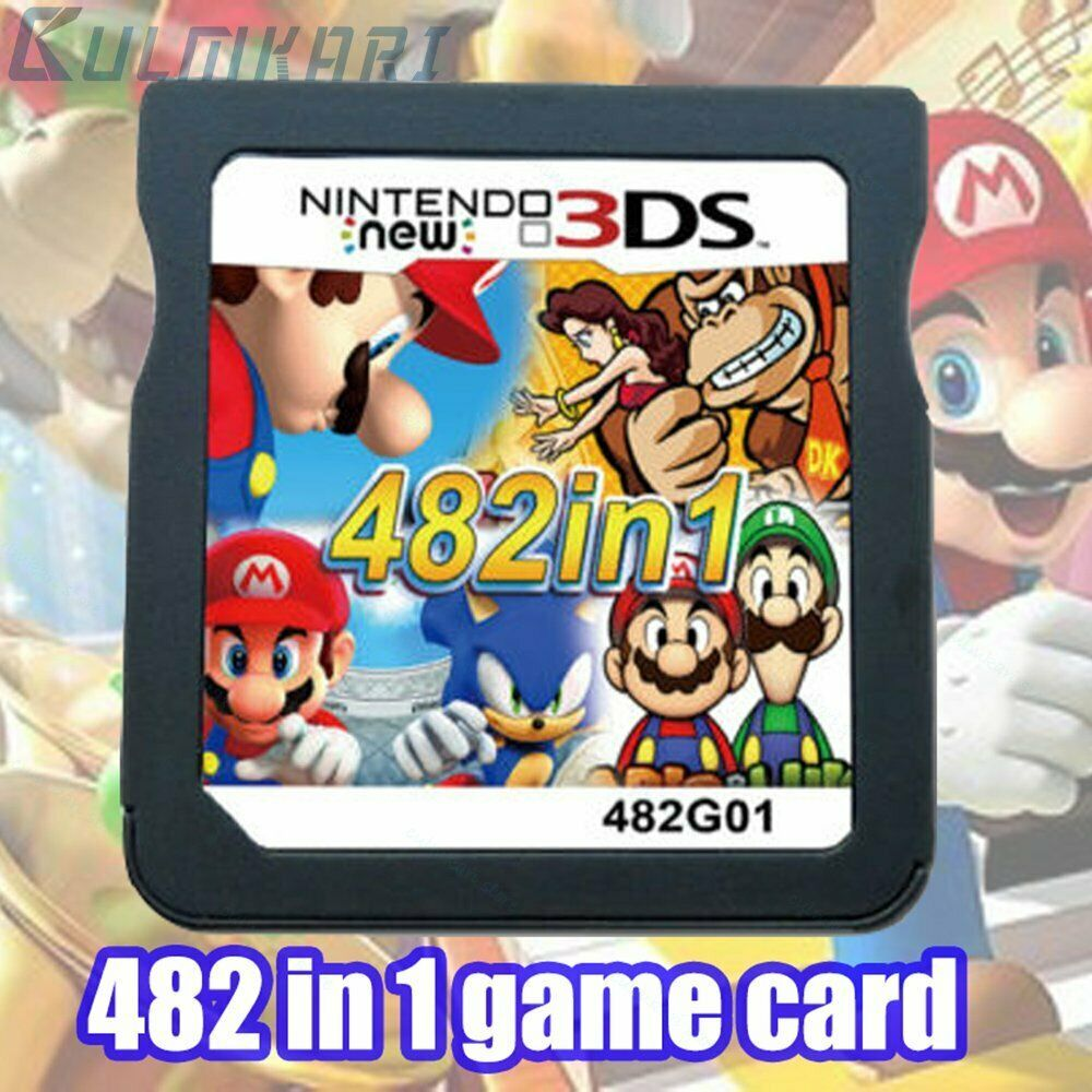 Nds 482 In 1 Game Cartridge Mario Multicart For Nintendo Ds Lite Ndsi 3ds 2ds Xl 2ds 3ds Cartridge In 2020 Nintendo Ds Nintendo Ds Lite Ds Lite