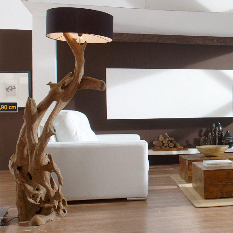 Standlampe RIAZ XL 200 cm aus Teakholz: Amazon.de: Küche & Haushalt ...