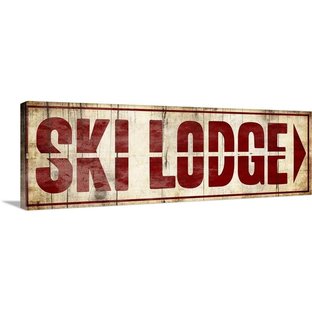 Greatbigcanvas Ski Lodge By Jace Grey Canvas Wall Art 2388539 24 60x20 The Home Depot Gray Wall Art Canvases Ski Lodge Decor Ski Decor