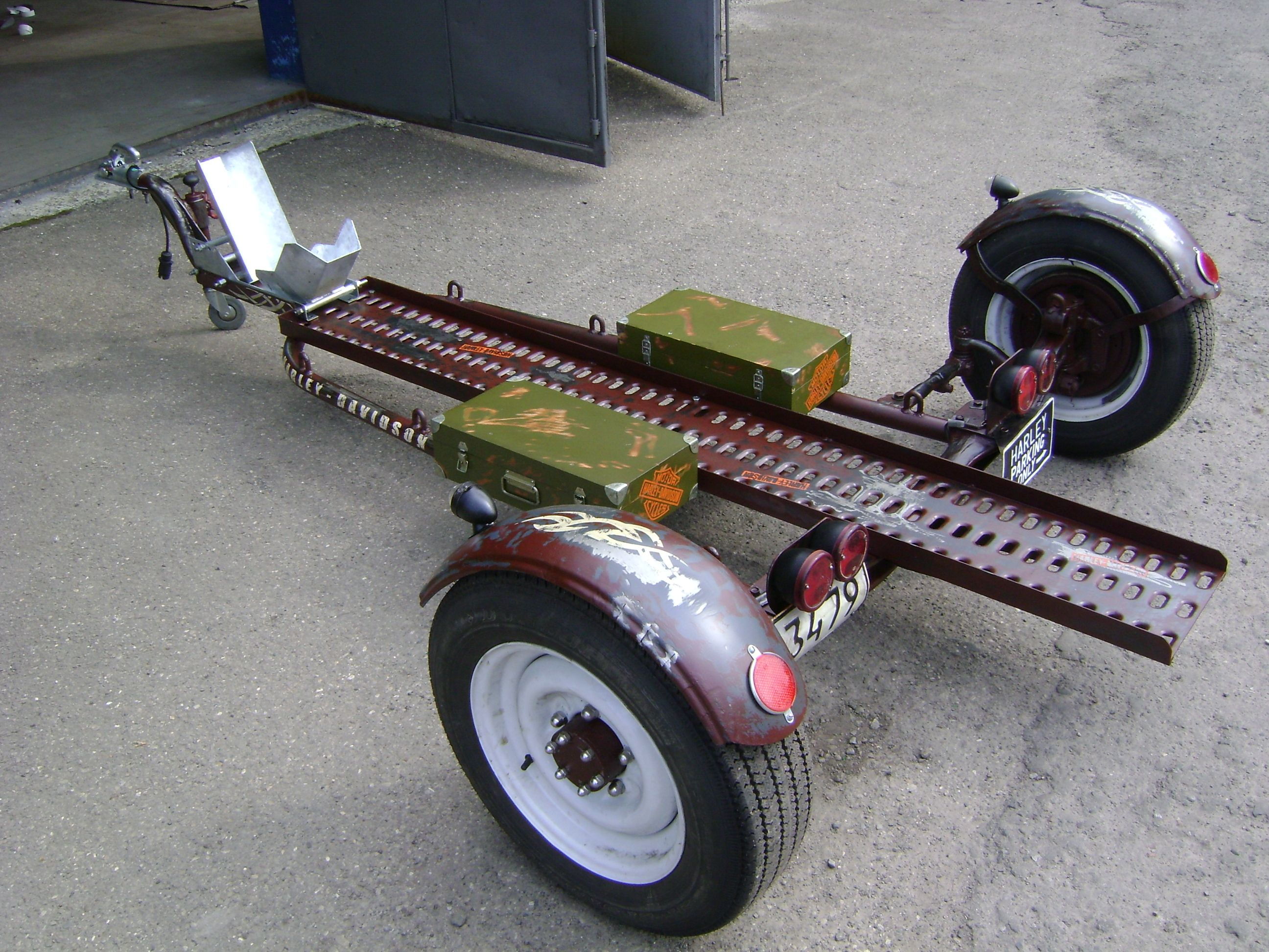 Pin By Manius67 On Fabrication Motorcycle Trailer Car Trailer Bike Transporting