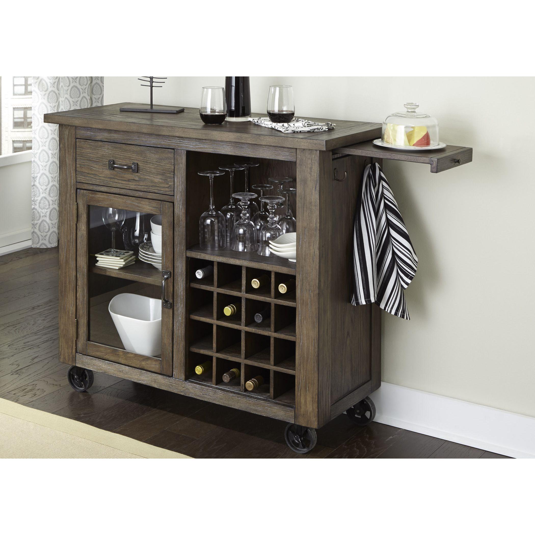 cart cabinet ip kitchen whalen rustic rack portable fe com walmart brown wine with santa
