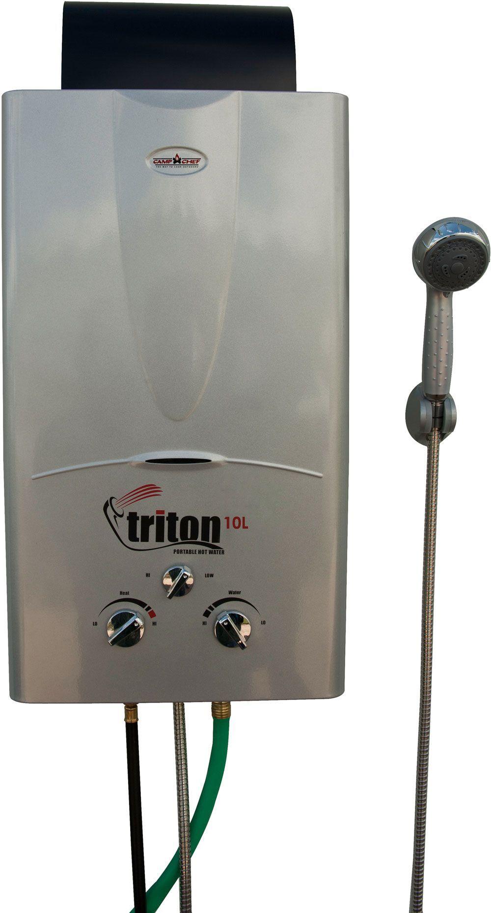 Camp Chef Triton 10L Portable Water Heater Solar panels