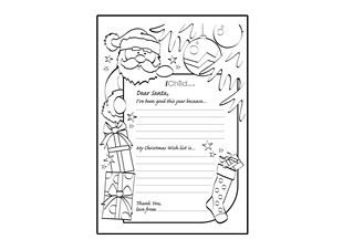 Print Off This Great Letter To Santa Template So That Your Child Can Write  And Color In, A Letter With Their Very Own Wishlist, To Father Christmas!  Christmas List To Santa Template