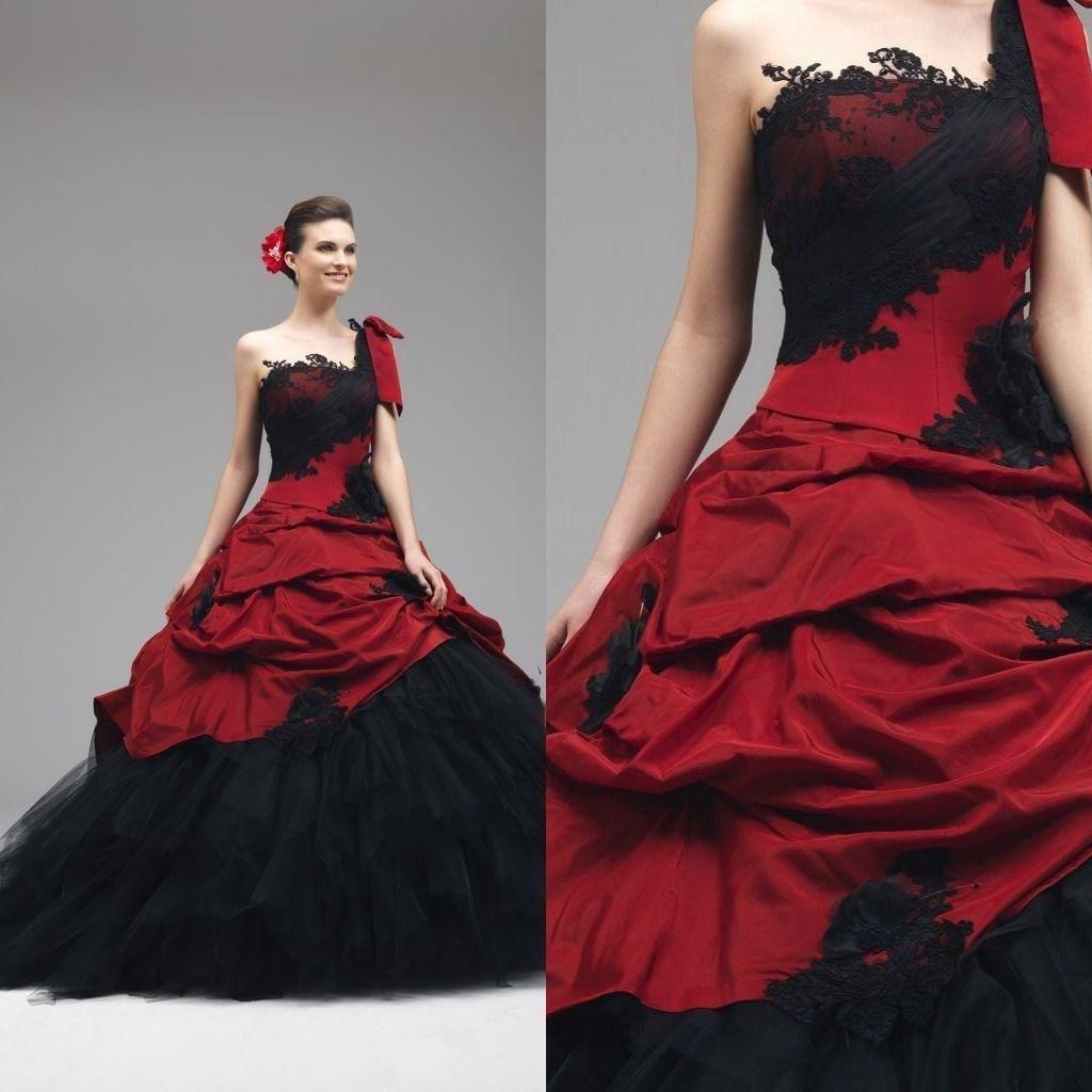 Red Gothic Wedding Dress | Gothic Wedding Dresses | Pinterest ...