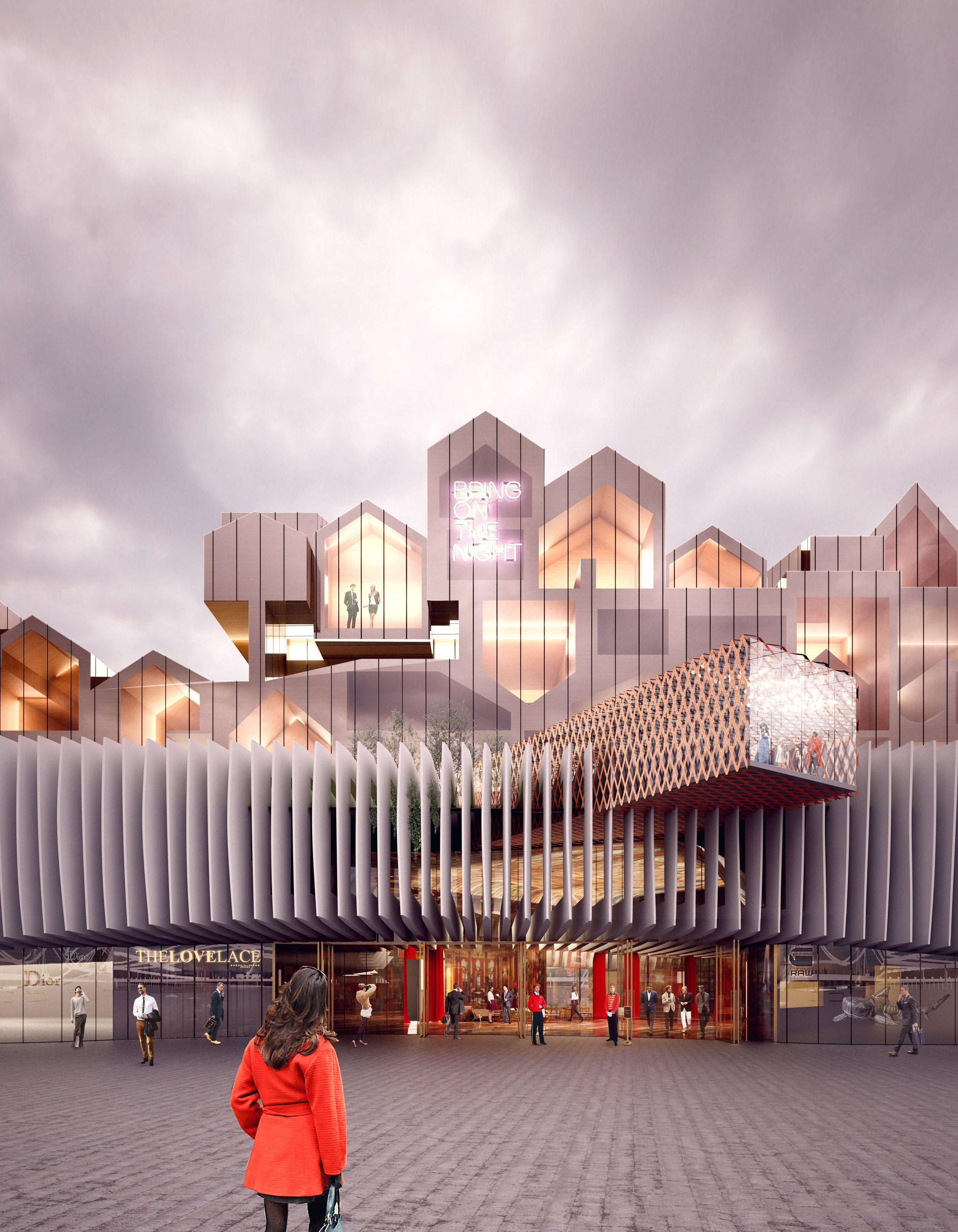 Eight buildings proposed for BIG's EuropaCity development near Paris