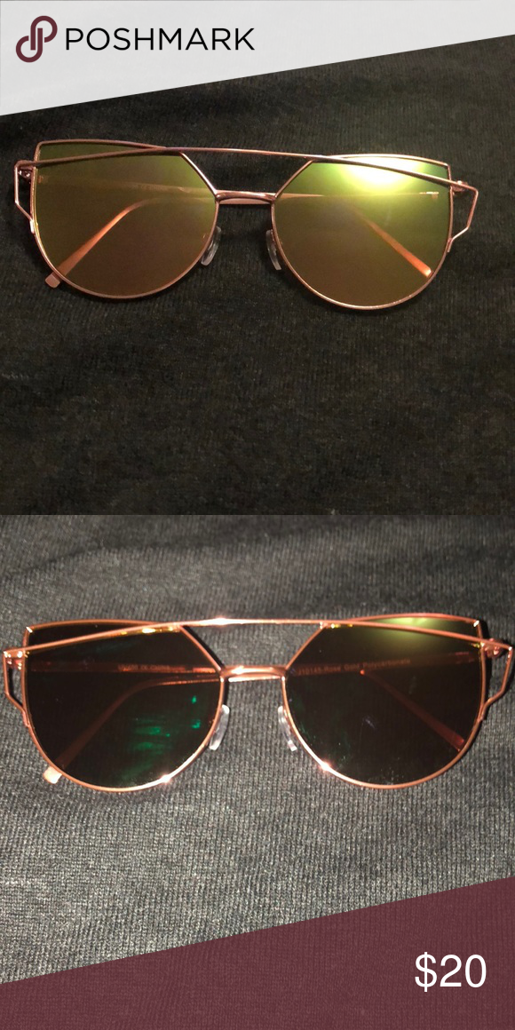 f3439a834419 Mulitcolor and Pink Rose Gold Chrome Sunglasses Perfect condition and not  trading ! NOWT NEVER WORE