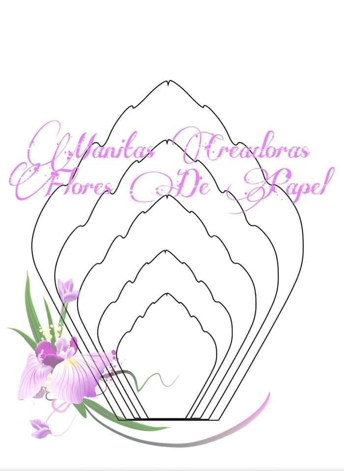 Pin De Jardin De Papel Sacuanjoche En Flowers Manitas Plantilla De Flor De Papel Manualidades Flores De Papel Flor De Paper