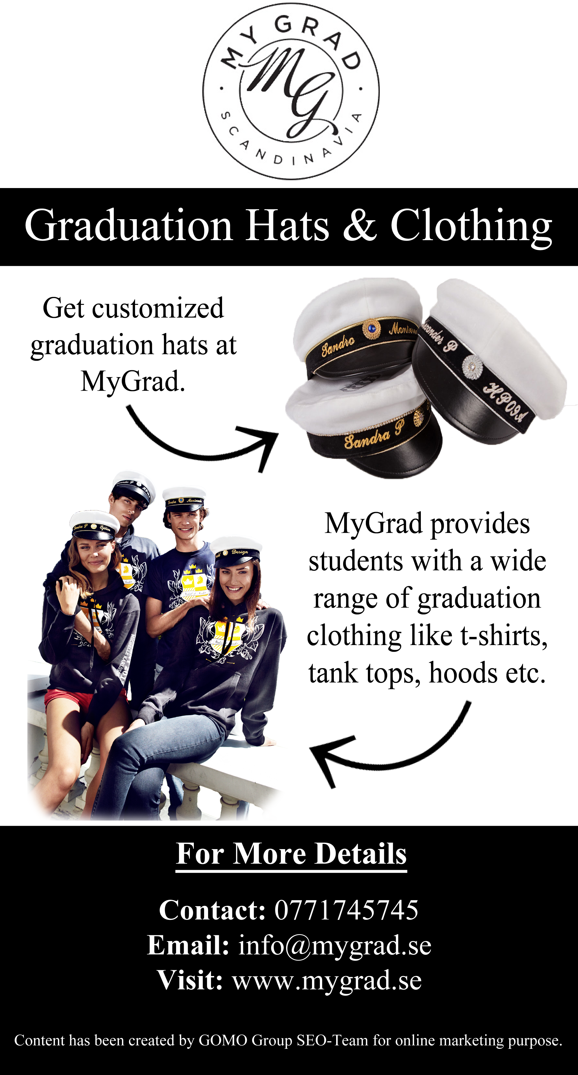 Design your own t-shirt and hats - Design Your Own Student Hat At Mygrad It Also Provides Other Student Accessories In Sweden