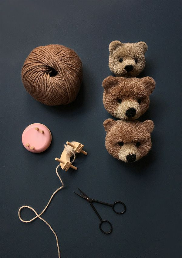 How to Make a Pom Pom Bear - Pom Maker Blog #crochetbearpatterns
