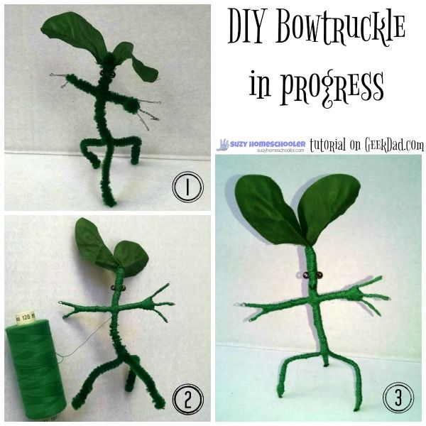 DIY Bowtruckle tutorial from GeekDad.com and Free Printable Adoption Certificate from Suzy Homeschooler (2)