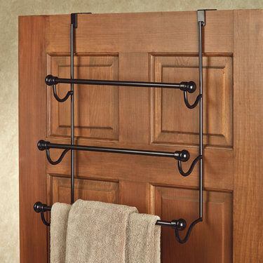 Bronze Over The Door Three Bar Towel Rack Bath Towel Racks